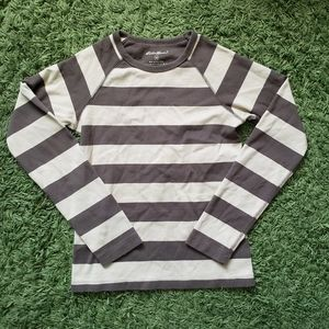 Eddie Bauer Green Striped LS Shirt.